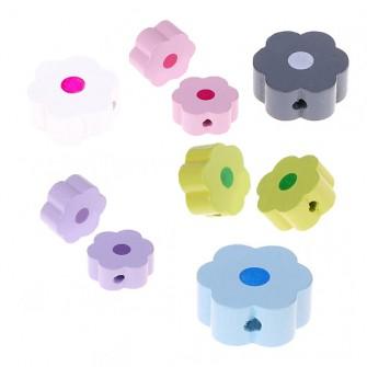 perles bois fleur point