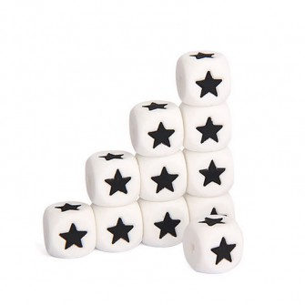 Perles étoiles silicone