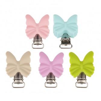 clip papillon silicone