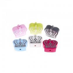perles couronne argent
