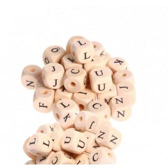 perles lettre bois imprimé