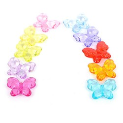 perles 3D papillon acrylique