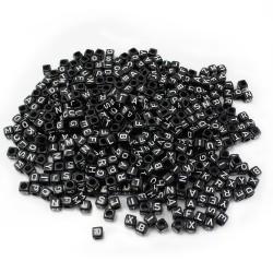 perles acryliques noires lettre