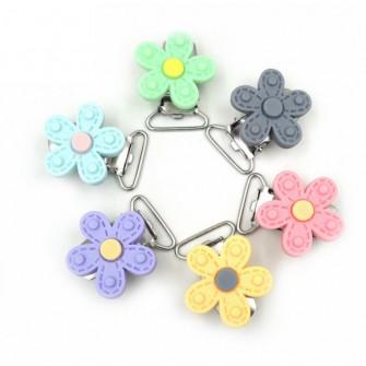 clip métal fleur