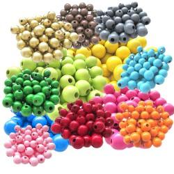 lot perles ronde en bois