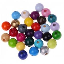 perles bois ronde 12mm
