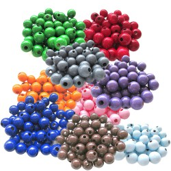perles bois ronde 10mm lot 30