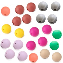 perles rondes silicone 15mm
