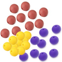 perles rondes silicone 12mm lot