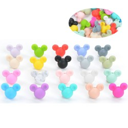 perles mickey silicone
