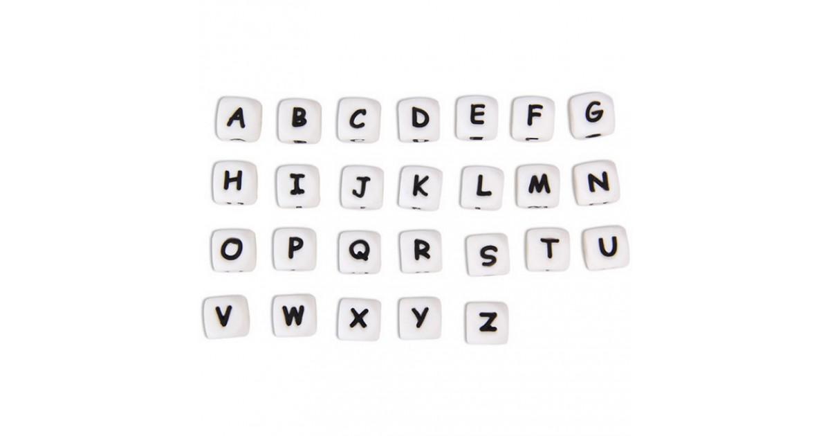 perles lettre alphabet silicone