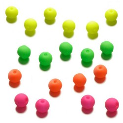 perles rondes néon bois 8mm