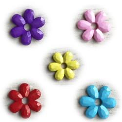 perles acryliques fleurs