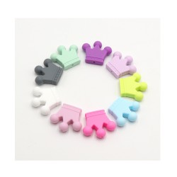 perles couronne silicone