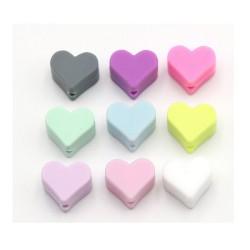 perles mini-coeur silicone 1.5cm