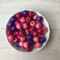 lot 50 perles bois