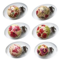 mini-clip bois floral