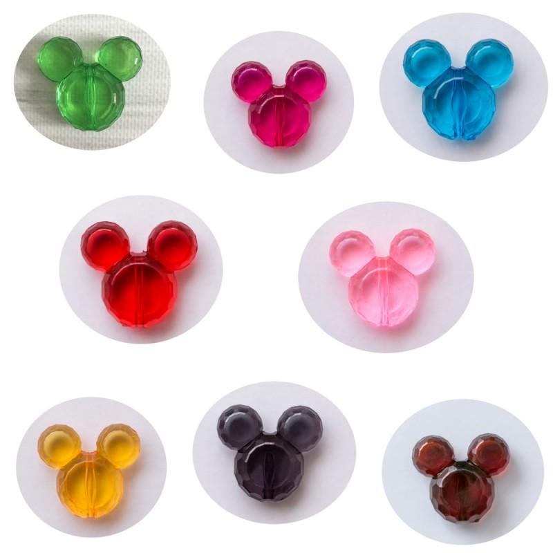 perles minnie mickey acrylique