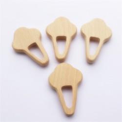 anneau dentition en bois naturel modèle  cornet de glace