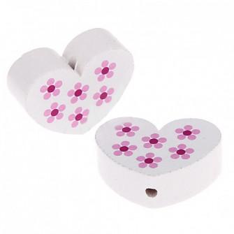 perles coeur fleurs blanc