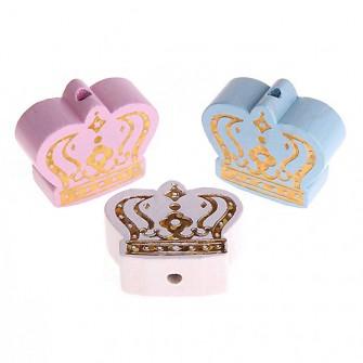 perles couronne pailletée or