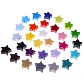 perles bois étoiles