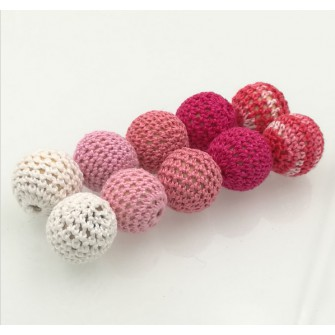 perles bois crochet chunky