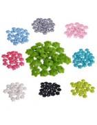 Perles en bois  fleur