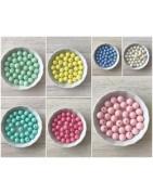 perle ronde couleur pastel