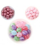 perles acryliques à motifs