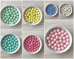 Perles rondes collection pastel 10 et 14 mm