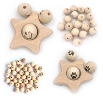 Perles en bois naturels