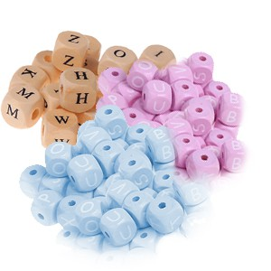 Perles lettres lot de 50