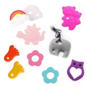 Perles et pendants silicone formes diverses